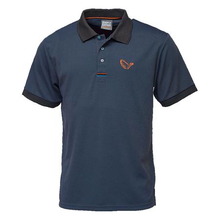 Koszulka Wędkarska Savage Gear SIMPLY SAVAGE 3-STRIPES POLO SHIRT Niebieska