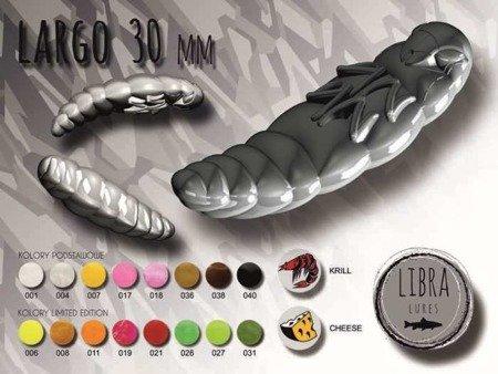 Libra Lures Largo 3cm Kolor 038 Brown Zapach Cheese op.12szt