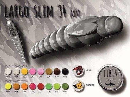 Libra Lures Largo Slim 3,4cm Kolor 038 Brown Zapach Cheese op.12szt