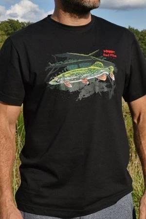 NOWOŚĆ - Koszulka Wędkarska Ze Szczupakiem - Super Grafika Oryginalna