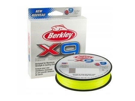 Plecionka Berkley X9 Fluoro Green  0,06mm 1,81kg 150m